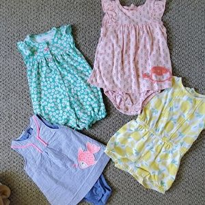 4 baby rompers sized 18 months